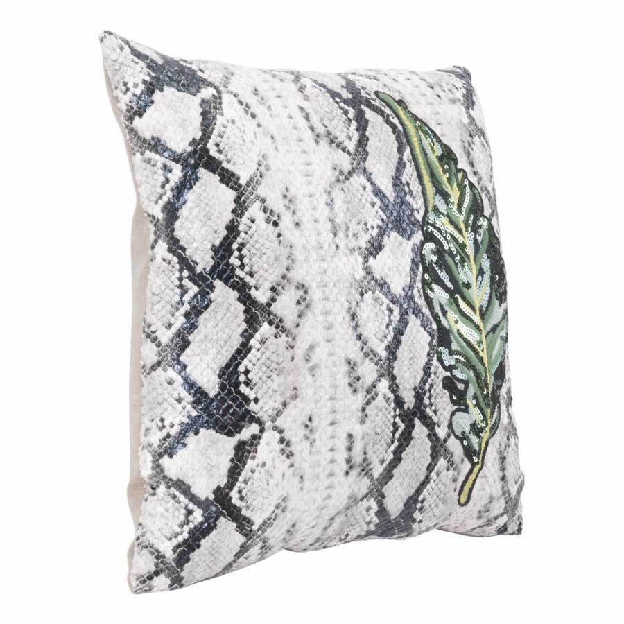 Leaf Pillow White