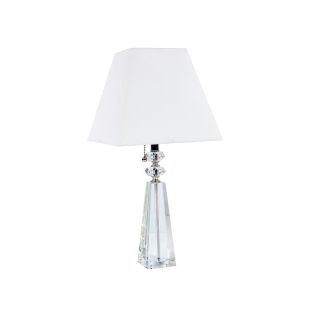 1LT Crystal Table Lamp, Polished Chrome Finish image