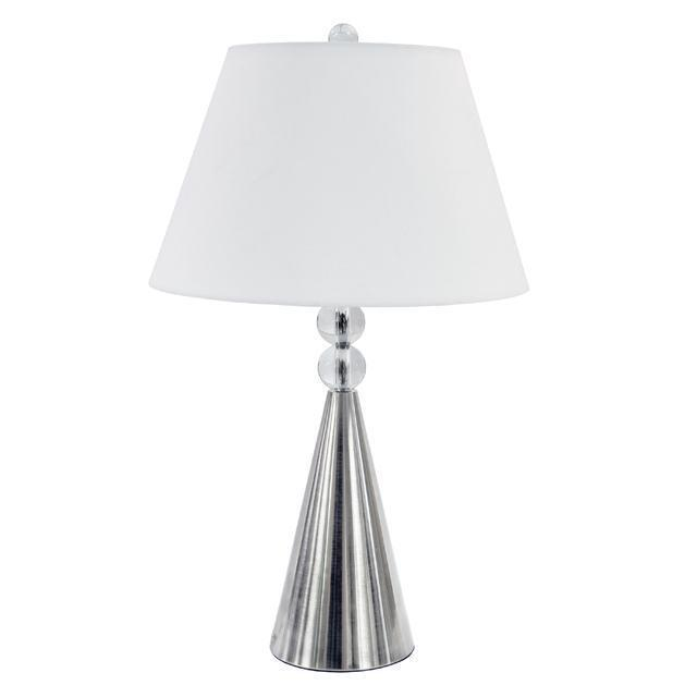 1LT Crystal Table Lamp, Satin Chrome Finish image