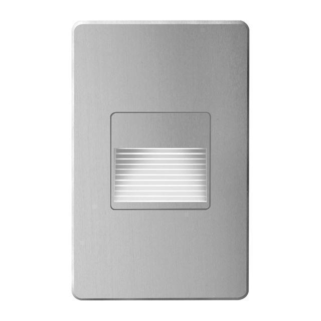 Brushed Alum Rectangle In/Out 3W LED Wal image
