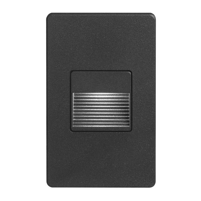 Black Rectangle Indoor/Out 3W LED Wall L image