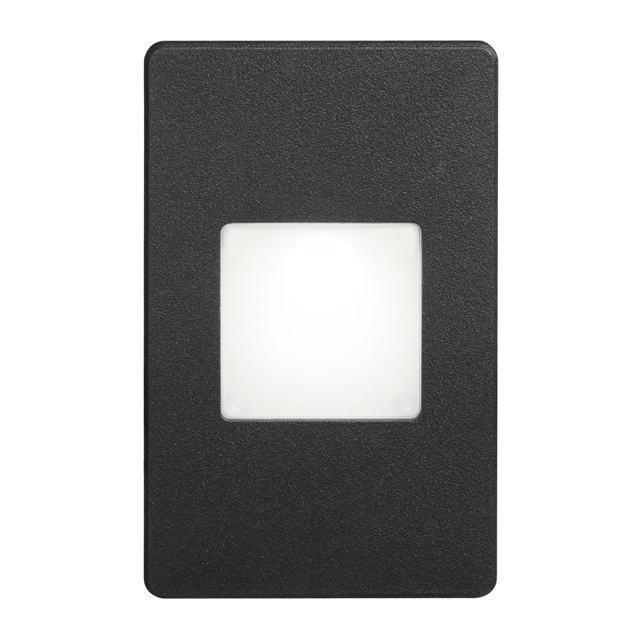 Black Rectangle In/Outdoor 3W LED Wal image