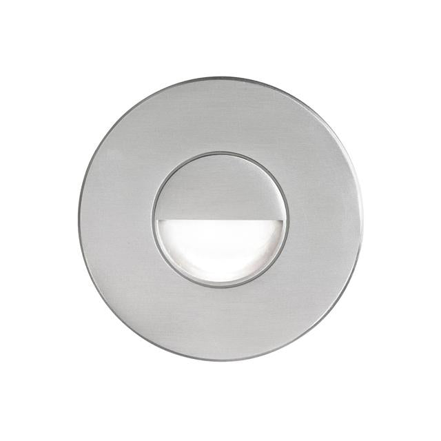 Brushed Alum Round In/Outdoor 3W LED Wal image