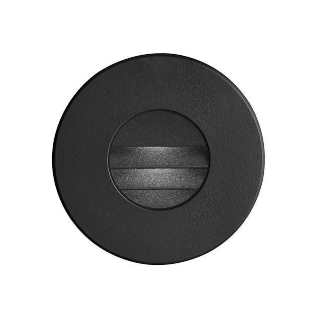 (K)Black Round In/Outdoor 3W LED Wall Li image