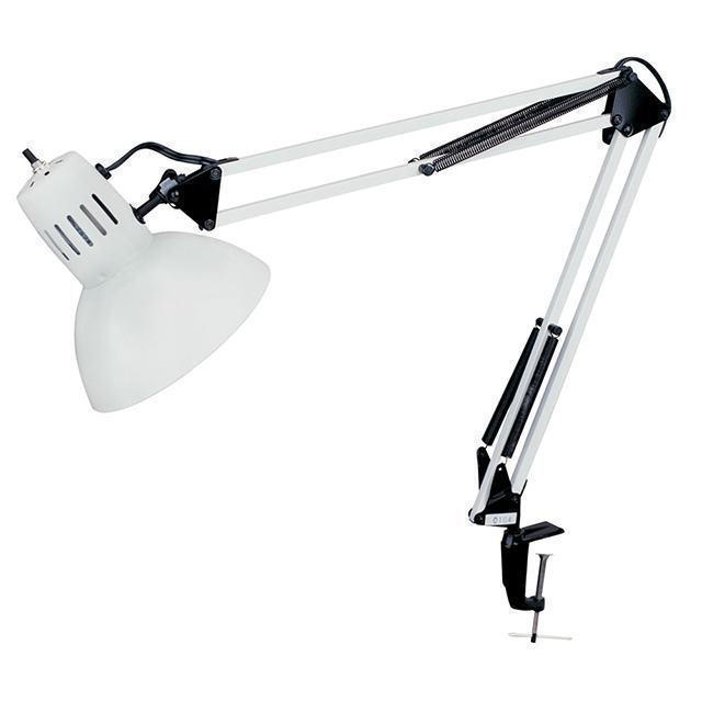 Clamp-On Task Lamp, Gloss White image