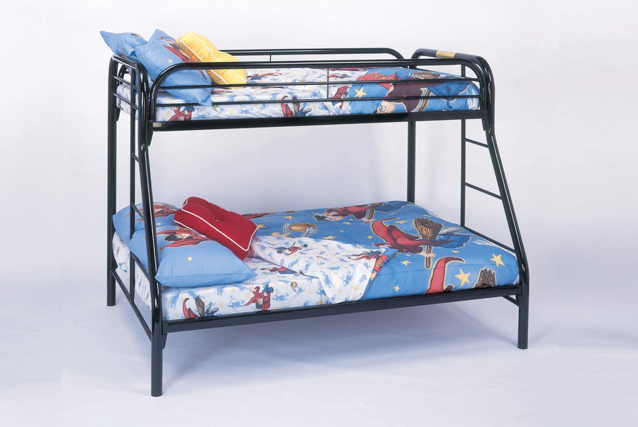 BUNK BED - TWIN / FULL SIZE / BLACK METAL image