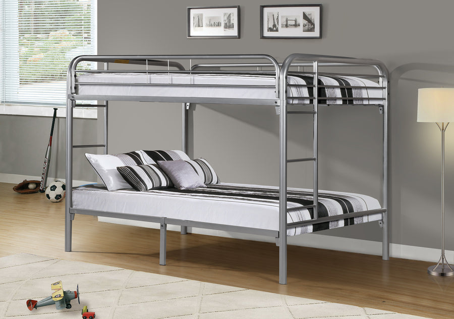 BUNK BED - FULL / FULL SIZE / SILVER METAL image
