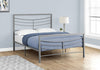 BED - FULL SIZE / SILVER METAL FRAME ONLY image