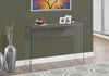 CONSOLE TABLE - GREY WITH TEMPERED GLASS image