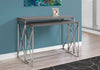 CONSOLE TABLE - 2PCS / GREY WITH CHROME METAL image