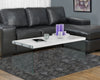 COFFEE TABLE - GLOSSY WHITE WITH TEMPERED GLASS image