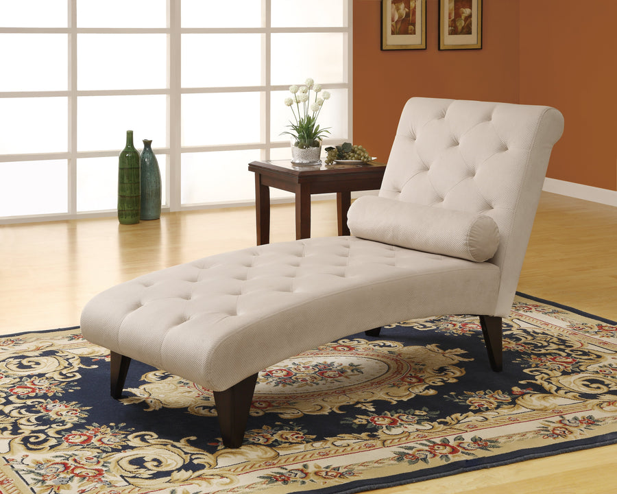 CHAISE LOUNGER - TAUPE VELVET FABRIC image