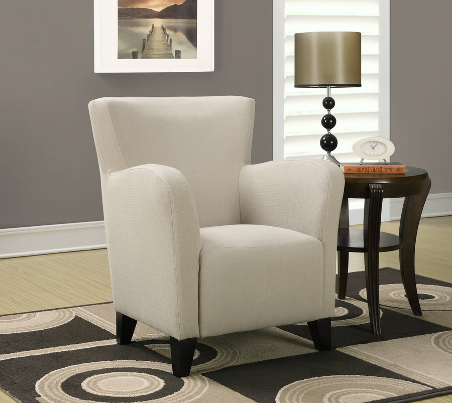 ACCENT CHAIR - TAUPE LINEN FABRIC image