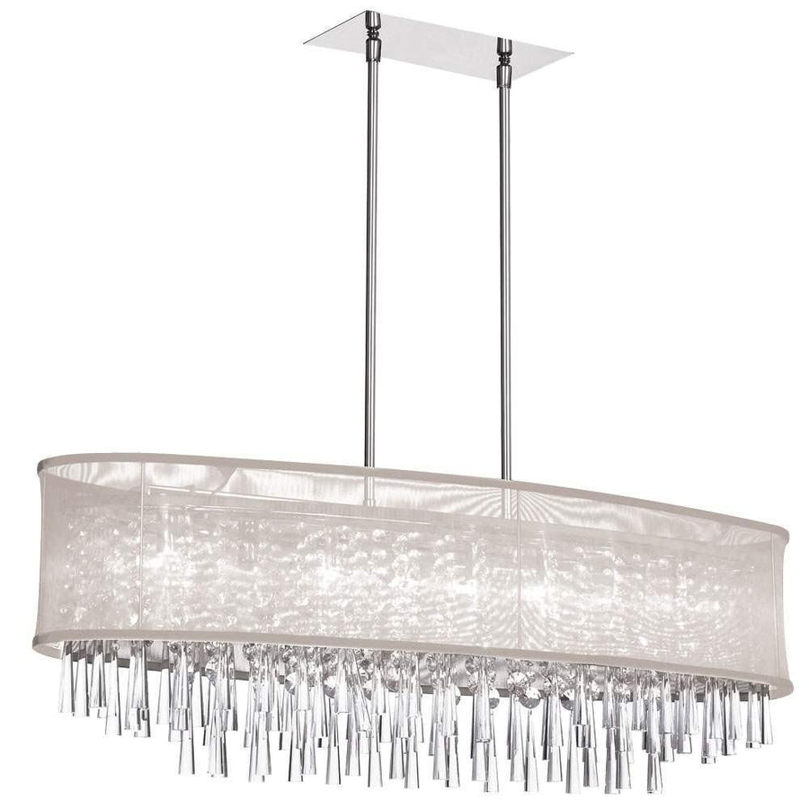 8LT Crystal Oval Chandelier w/Oys Sh image