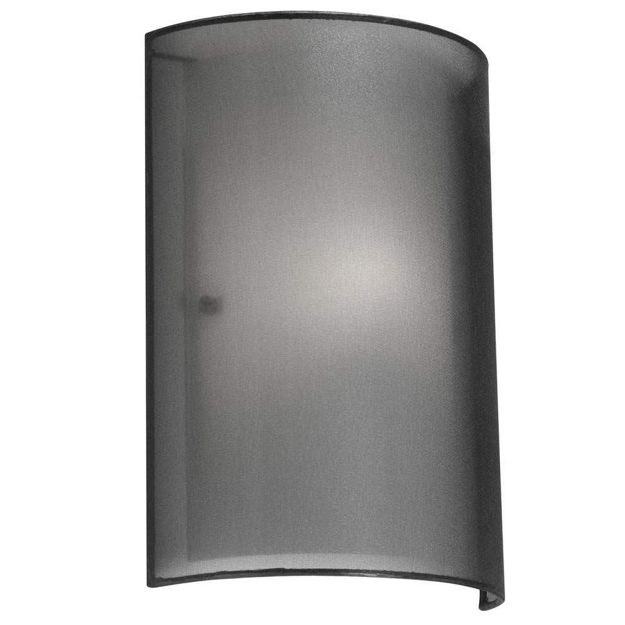 1LT Wall Sconce Black Laminated Organza image