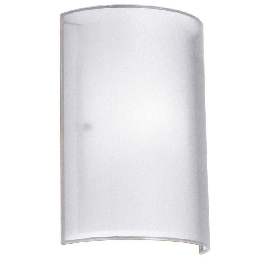 1LT Wall Sconce White Laminated Organza image