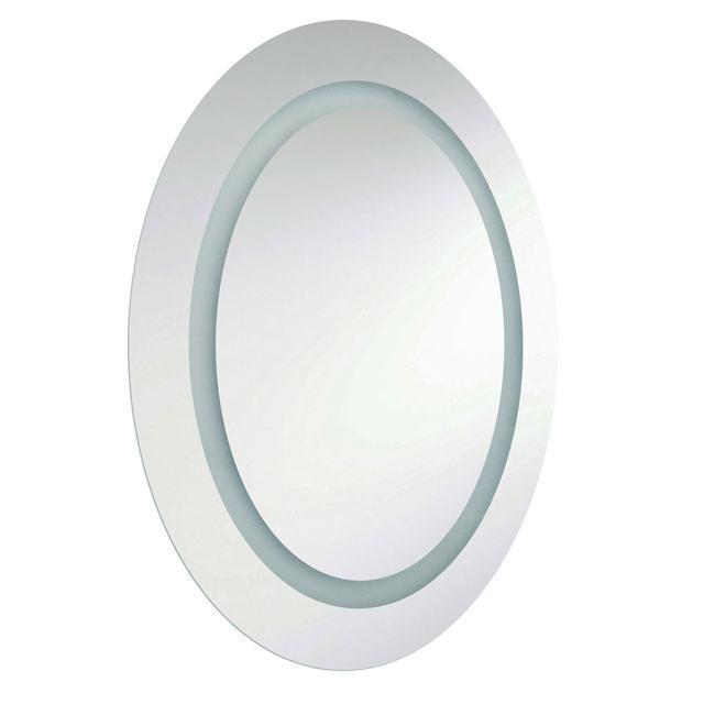 37W Oval Mirror, Inside Illuminated 35x28 Inch image