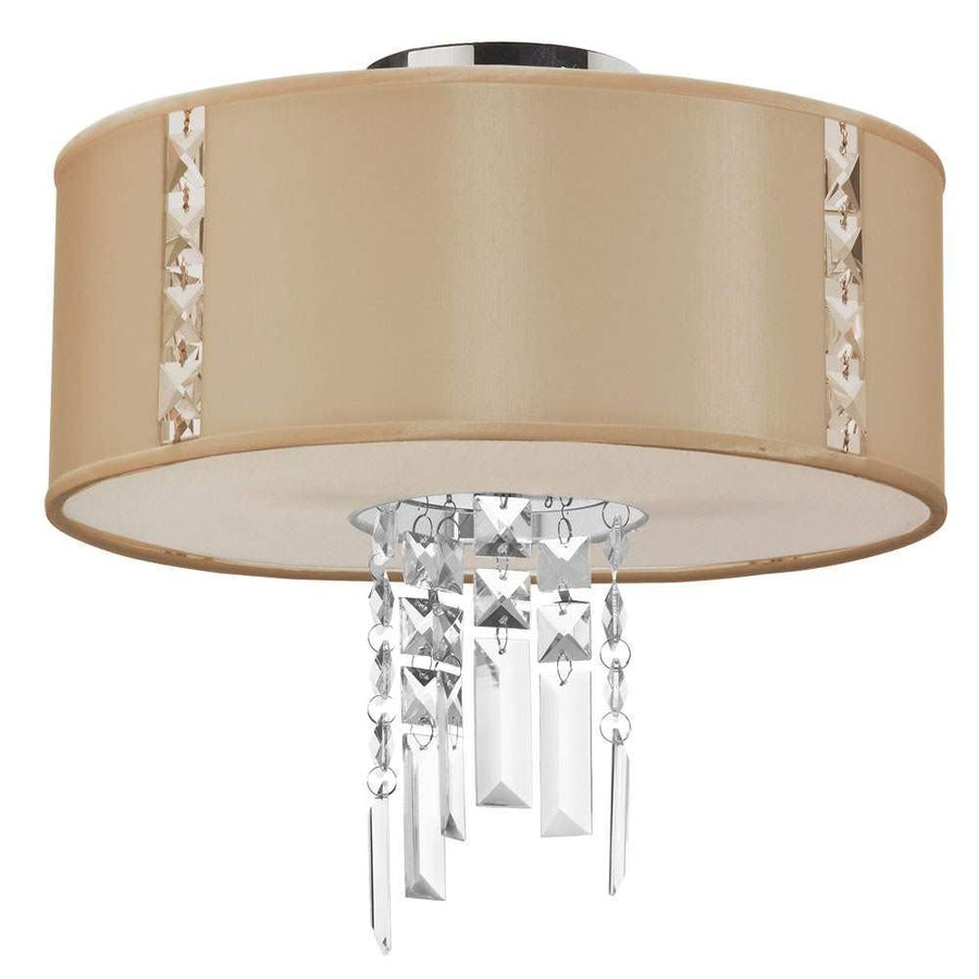 2LT Semi Flush Fixture, Cream image