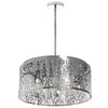 8LT Chandelier Crystal w/ Floral Pattern, PC image