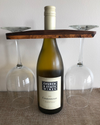 Wine Multi-Wood Bottle & Wine Glass Holder