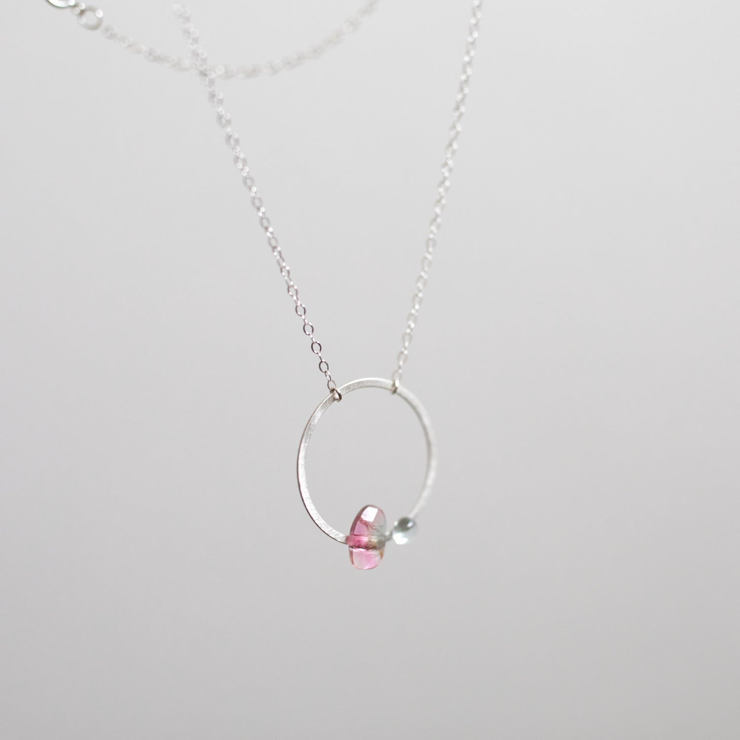 Off to find love silver tourmaline necklace 1