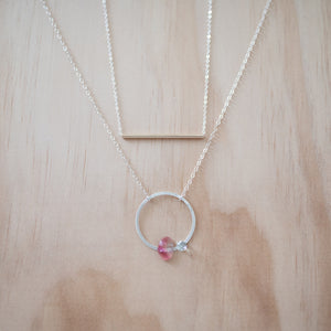 Off to find love silver tourmaline necklace 2