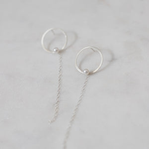 Kissed away silver pearl studs