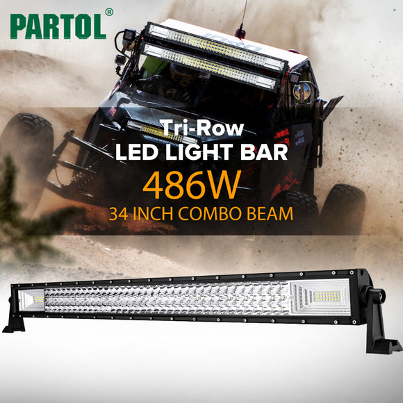 Snake Racing Led Light Bars Led lights thextremejeeps partol 34 486w tri row led light bar spot flood combo beam offroad work light 4wd 4x4 led bar for jeep camper trailer 12v 24v audiocablefo