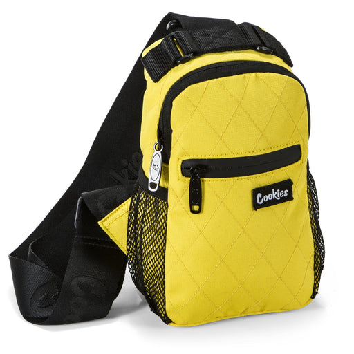 Cookies Noah Quilted Over the Shoulder Bag - Yellow