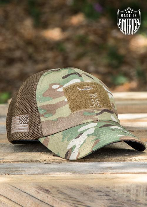 b695a4ce997 Dropline Cap - American Made Mesh Back Hat Multicam from Nine Line Apparel