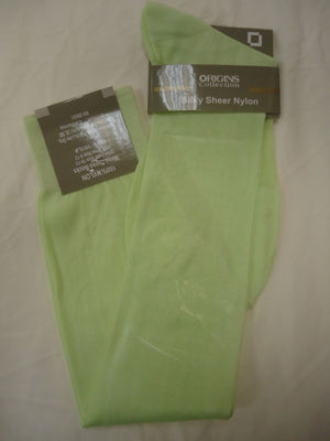 Mens Apple Lime Origins Silky Sheer Knee-High OTC Nylon Dress Socks TNT