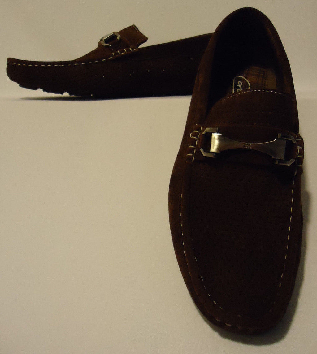 Mens New Summer Casual Moc Shoes Loafers Ventilated Moccasins Drive2-Brown - Nader Fashion Las Vegas