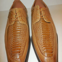 Mens Lovely Scotch Light Brown Exotic Emboss Dress Shoes Antonio Cerrelli 6536 - Nader Fashion Las Vegas