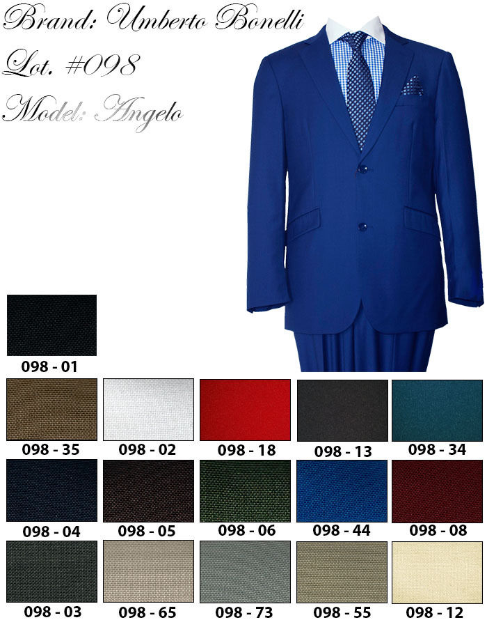 Mens Umberto Bonelli Saturated Color Dapper Style Classy Suit Royal Red Teal - Nader Fashion Las Vegas
