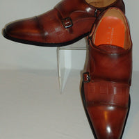 Mens Sienna Brown Hounds Tooth Buckled Dress Loafers Shoes Antonio Cerrelli 6670 - Nader Fashion Las Vegas