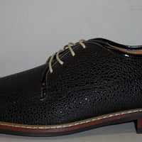 Mens New Style Casual Dressy Lace Shoes Shiny Black Dots Ferro Aldo MFA-19267A - Nader Fashion Las Vegas