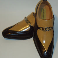 Mens Sharp Brown Tan Two Tone Dress Loafers Shoes Antonio Cerrelli 6710 - Nader Fashion Las Vegas