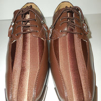 Mens Gorgeous Brown Satin Stripe Silvertip Dress Shoes Expressions 4925 - Nader Fashion Las Vegas