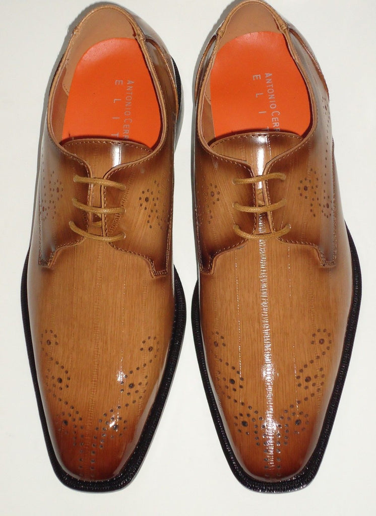 Mens Light Brown Scotch Perforated