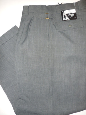 Mens Smokey Joe Fancy Buckle Design Dress Pants Slacks Gray & Celadon Green - Nader Fashion Las Vegas
