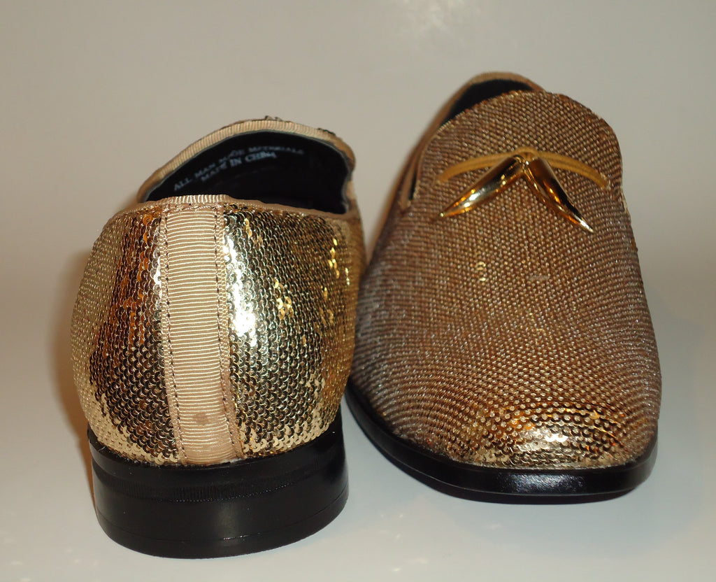 Mens Amazing Shiny Sparkly Gold Sequin