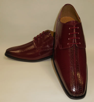 Mens Fancy Burgundy Coloration Fashion Oxford Dress Shoes Liberty LS914