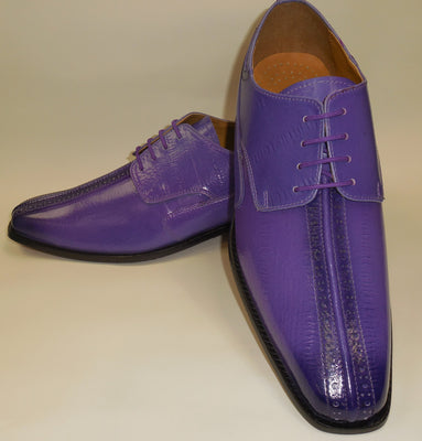 Mens Fancy Purple Coloration Fashion Oxford Dress Shoes Liberty LS914