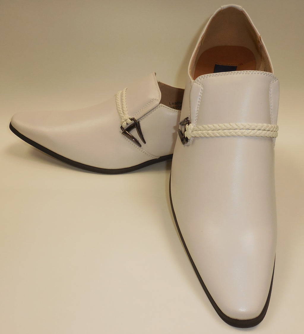 Mens Smooth Summer White Dressy Slip On Loafers Dress Shoes Majestic S 98105