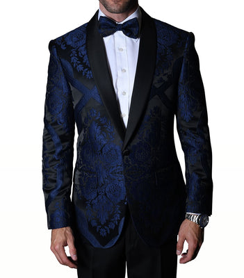 Mens Royal Blue Regal Fashion Formal Tuxedo Blazer Jacket Statement PJ100