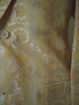 Mens Leonardi Pearl Essence & Golden Paisley Floral Paisley Jacket Style # 735 - Nader Fashion Las Vegas