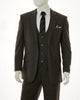 Mens Designer Multi Color Gray Plaid Round Collar Vest Dressy Stylish Suit