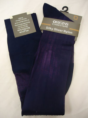 Mens Purple Origins Silky Sheer Knee-High OTC Nylon Dress Socks TNT - Nader Fashion Las Vegas