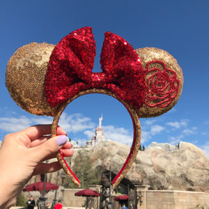 Enchanted Rose Minnie Inspired Ears