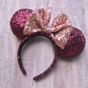 Fancy Wine Minnie Ears